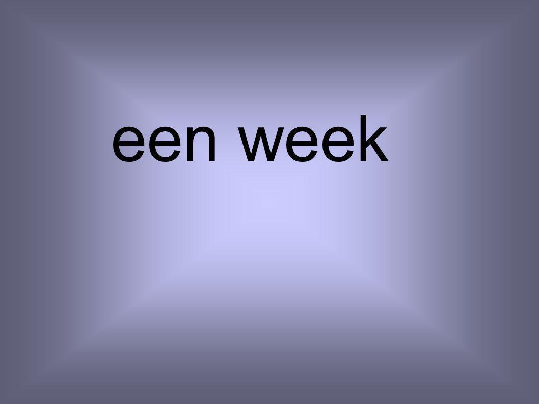 een week