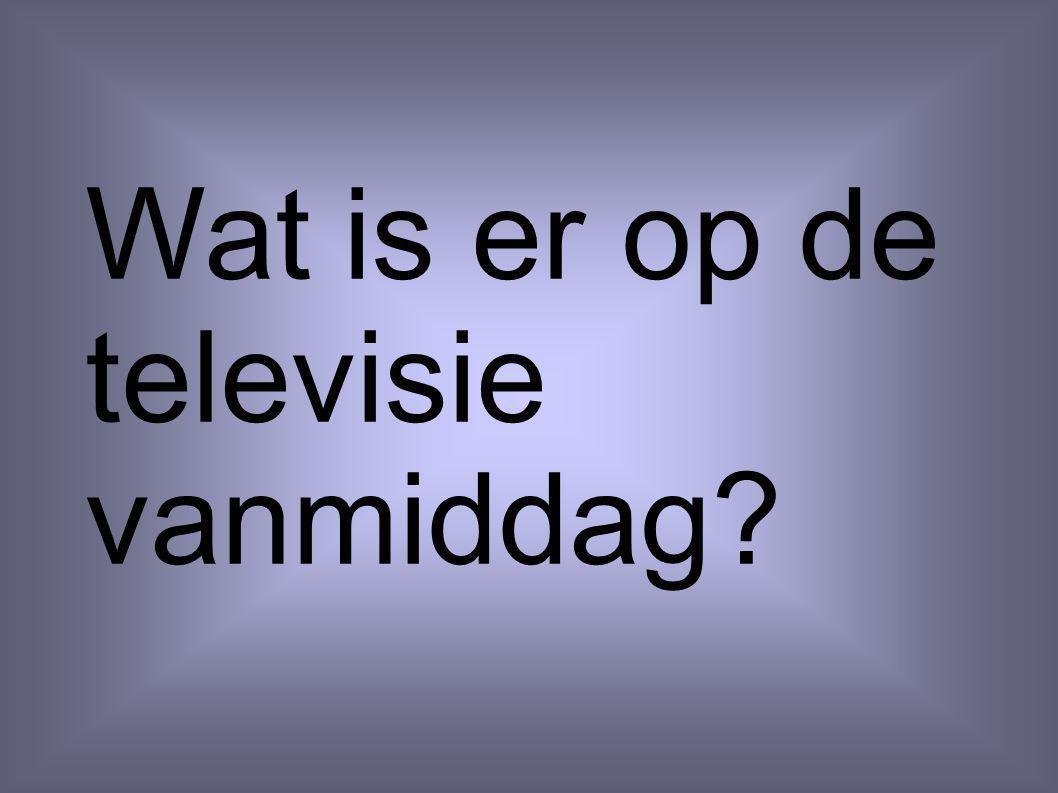 Wat is er op de televisie vanmiddag?