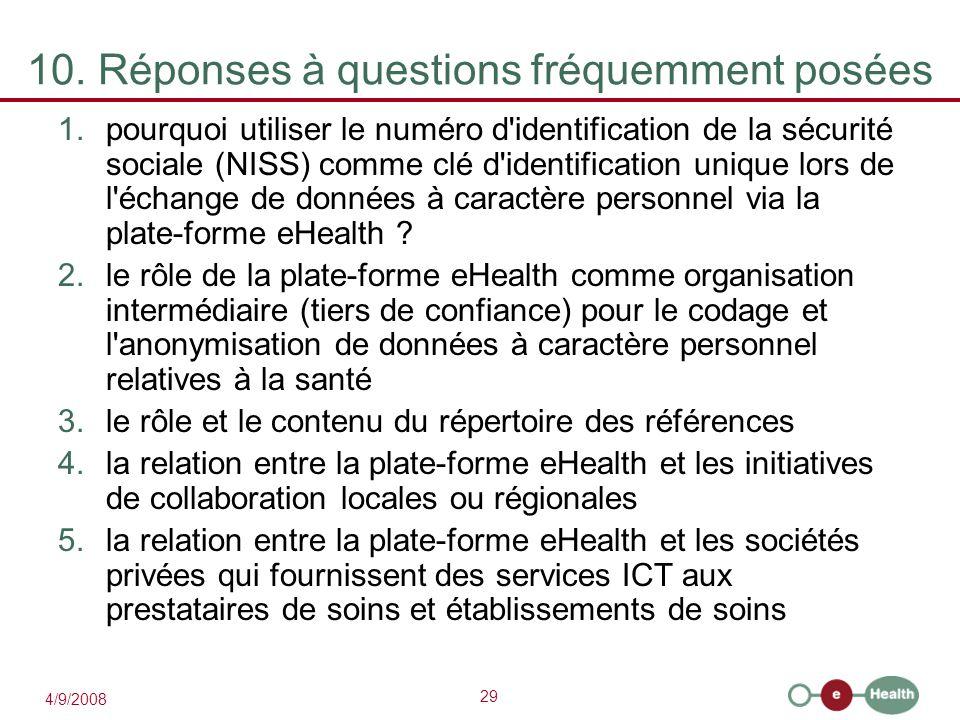 29 4/9/2008 1.pourquoi utiliser le numéro d'identification de la sécurité sociale (NISS) comme clé d'identification unique lors de l'échange de donnée