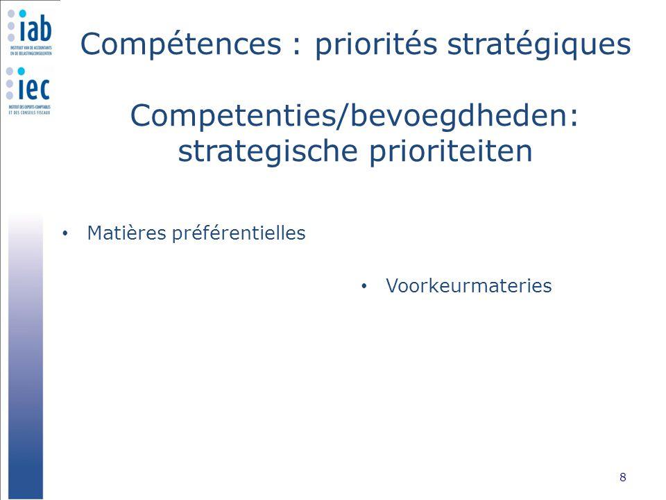 Qualité Kwaliteit Stage – Accès à la profession 9 Stage - Toegang tot het beroep