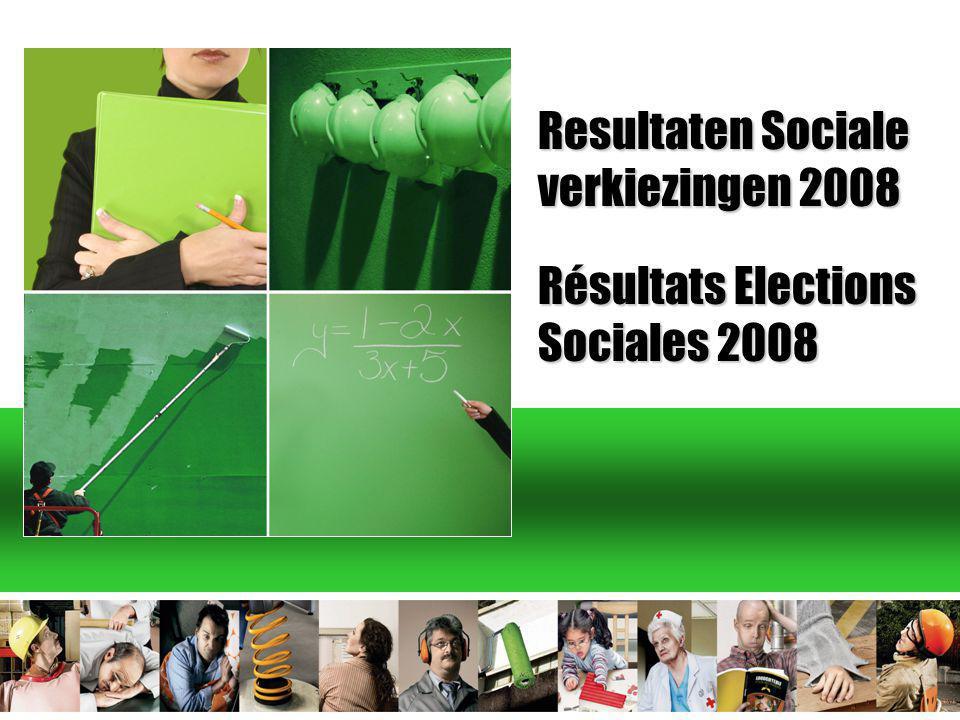 Resultaten Sociale verkiezingen 2008 Résultats Elections Sociales 2008