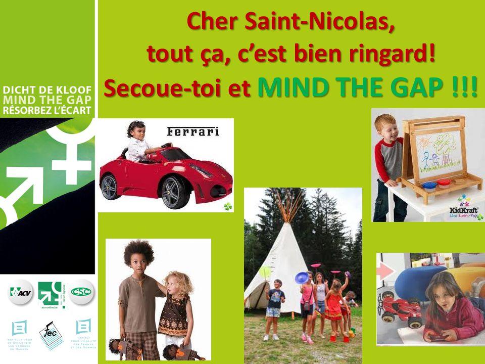 Cher Saint-Nicolas, tout ça, c'est bien ringard! Secoue-toi et MIND THE GAP !!!