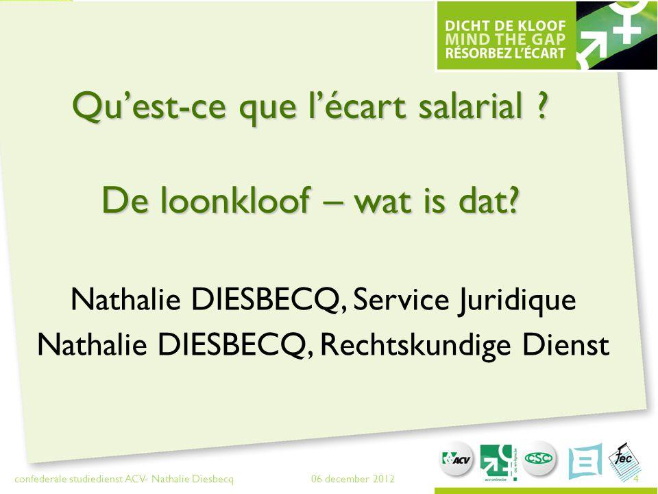 Reconnaissance / Erkenning 06 december 2012 confederale studiedienst ACV- Nathalie Diesbecq 5