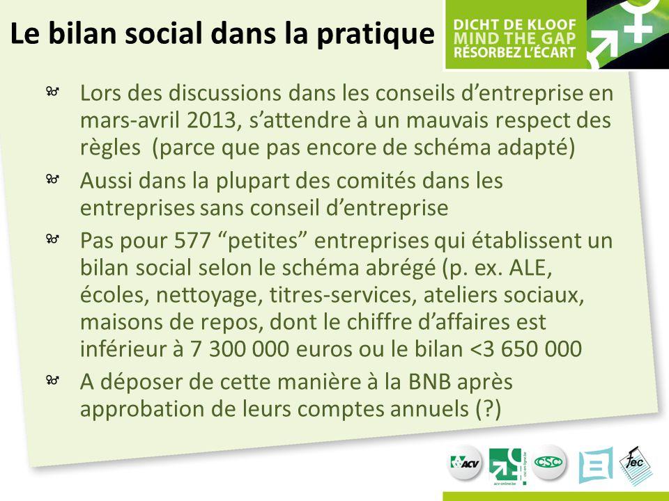 Le bilan social dans la pratique Lors des discussions dans les conseils d'entreprise en mars-avril 2013, s'attendre à un mauvais respect des règles (p