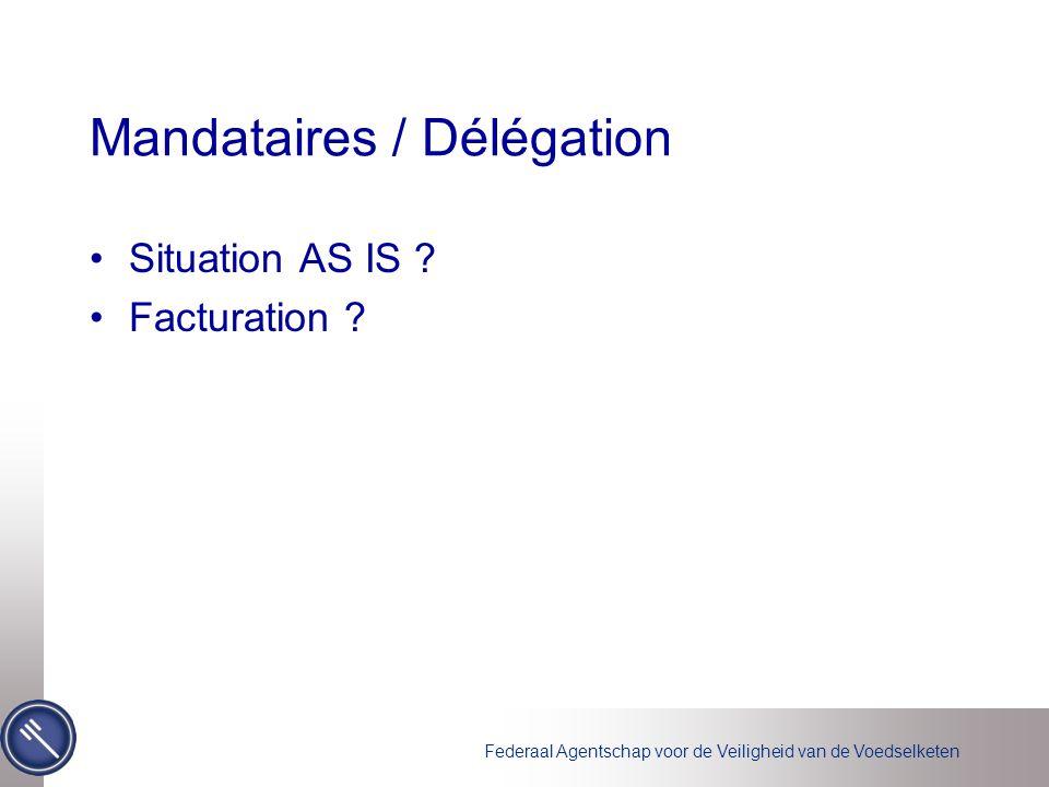 Federaal Agentschap voor de Veiligheid van de Voedselketen Planning Functionalité + implémentation certificats –Déplacement pour cause d'intégration des remarques Web service (System 2 System) –Première version pour le 15/06 ???????.