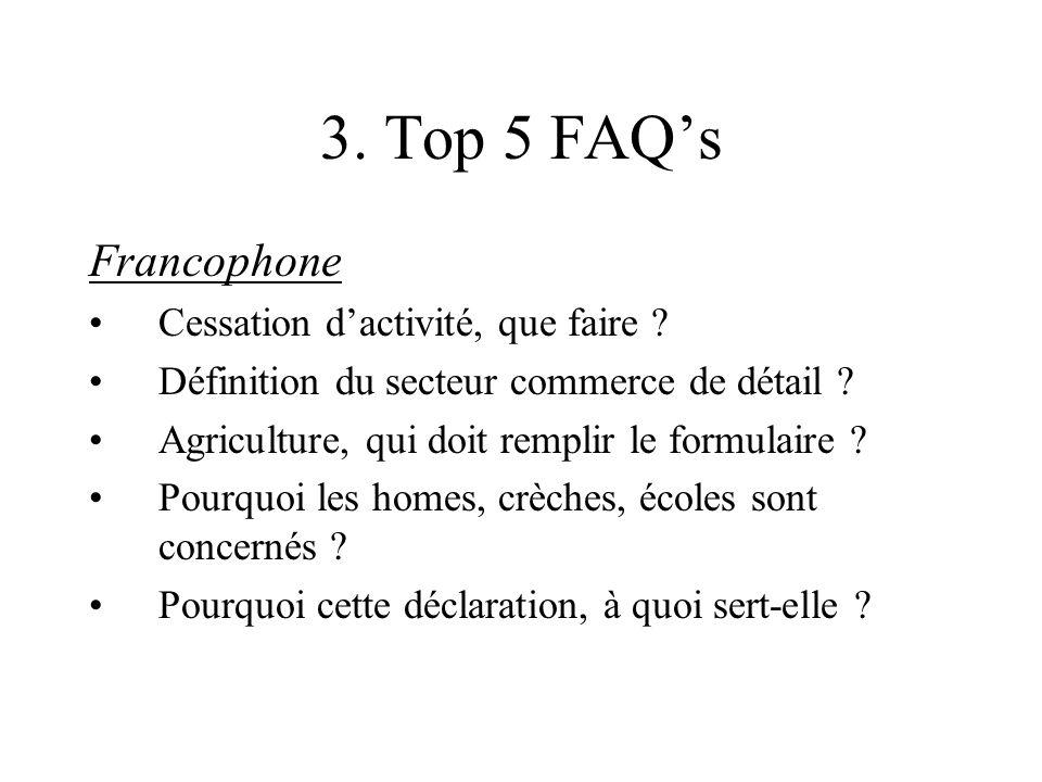 3. Top 5 FAQ's Francophone Cessation d'activité, que faire .