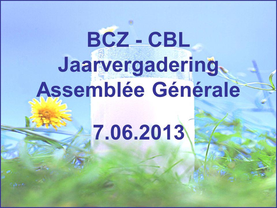 BCZ - CBL Jaarvergadering Assemblée Générale 7.06.2013