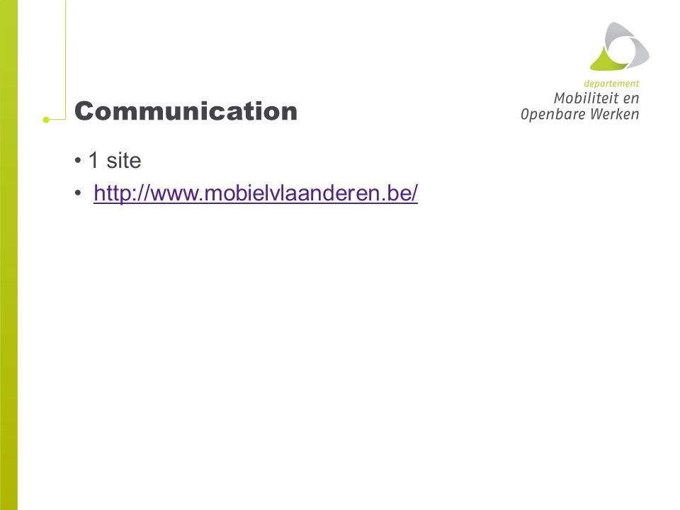 Communication 1 site http://www.mobielvlaanderen.be/