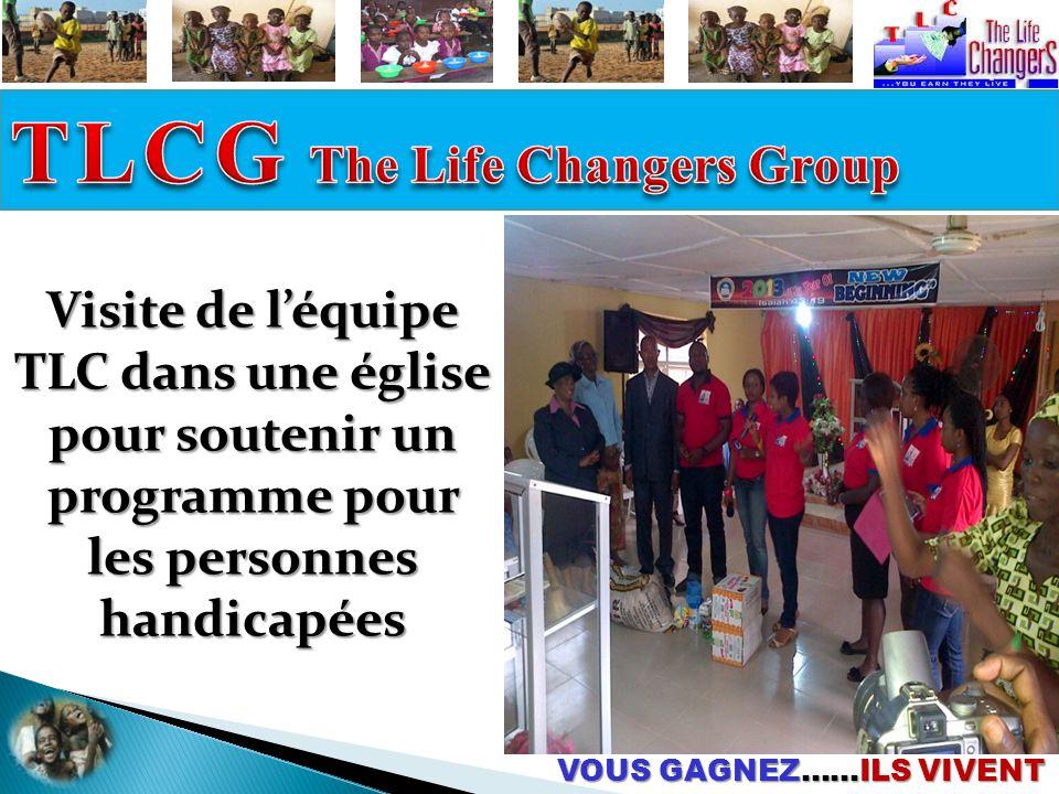 VOUS GAGNEZ……ILS VIVENT Visite de l'équipe TLC dans une église pour soutenir un programme pour les personnes handicapées