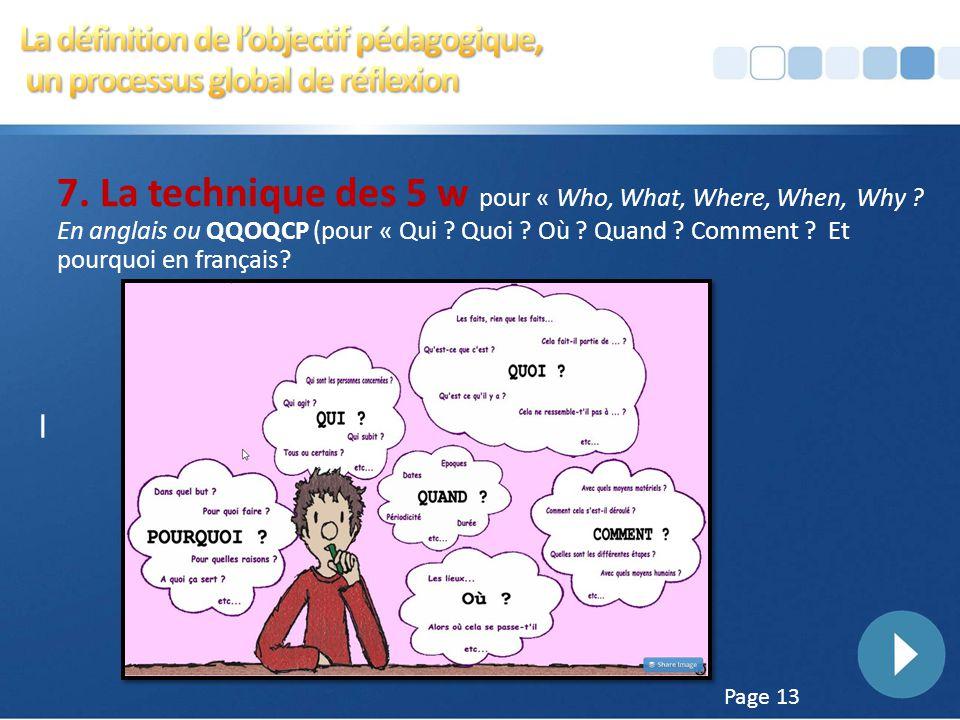 Page 12 6. La conception de l'objectif d'apprentissage Si le thème de la séquence concerne l'étude du Il convient de distinguer l'identification des d