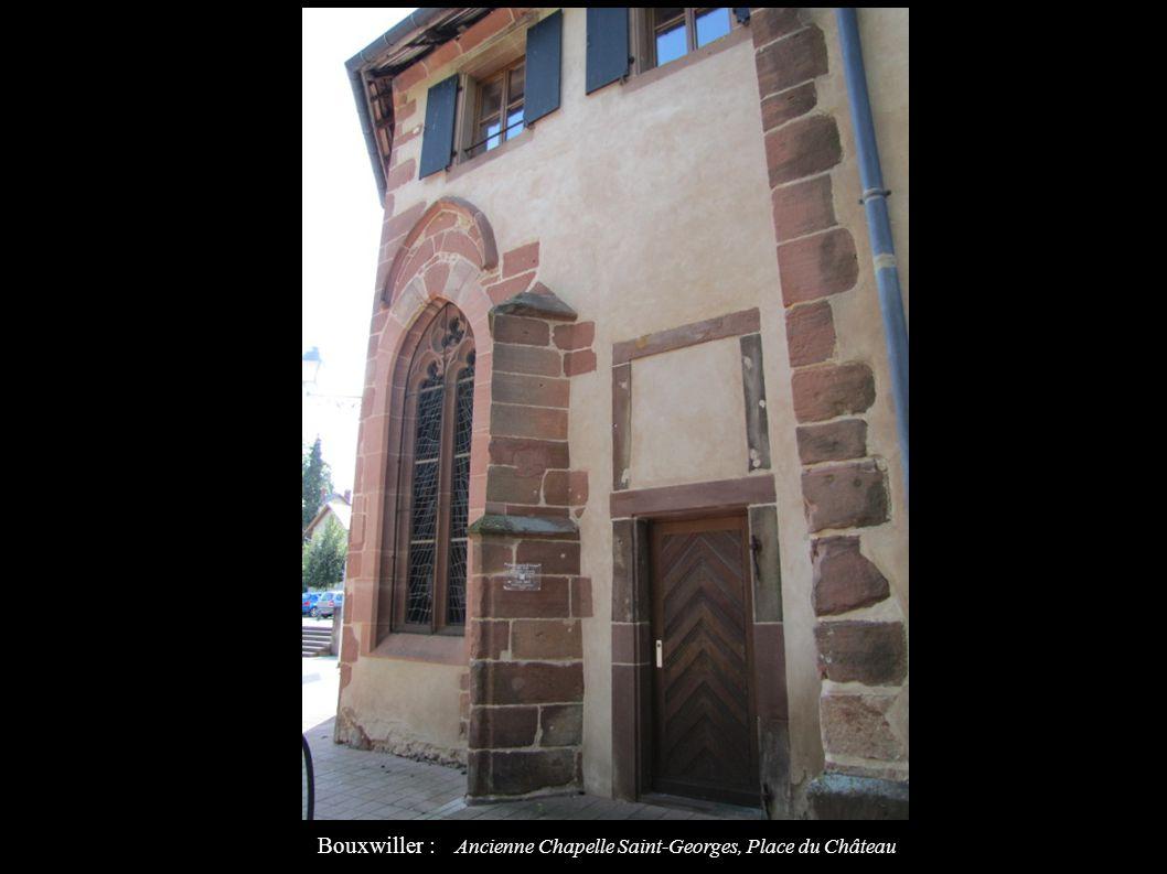 Bouxwiller : Anciennes Cour des Comptes et remise des carrosses du Comté Aujourd hui musée du Comté, Place du Château IA67009586