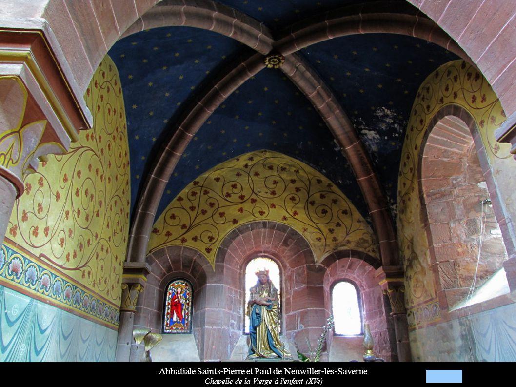 Abbatiale Saints-Pierre et Paul de Neuwiller-lès-Saverne Chapelle de la Vierge à l'enfant (XVe)