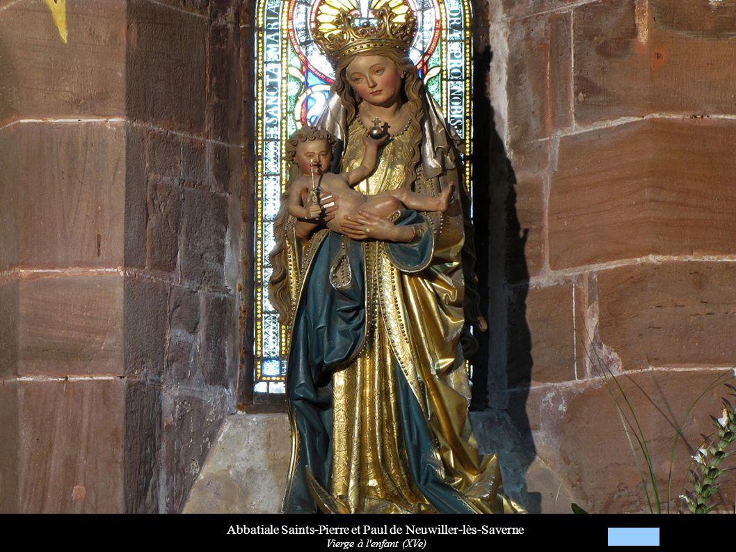 Abbatiale Saints-Pierre et Paul de Neuwiller-lès-Saverne Vierge à l'enfant (XVe)