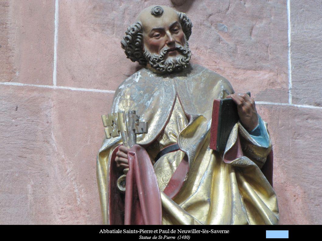 Abbatiale Saints-Pierre et Paul de Neuwiller-lès-Saverne Statue de St-Pierre (1480)