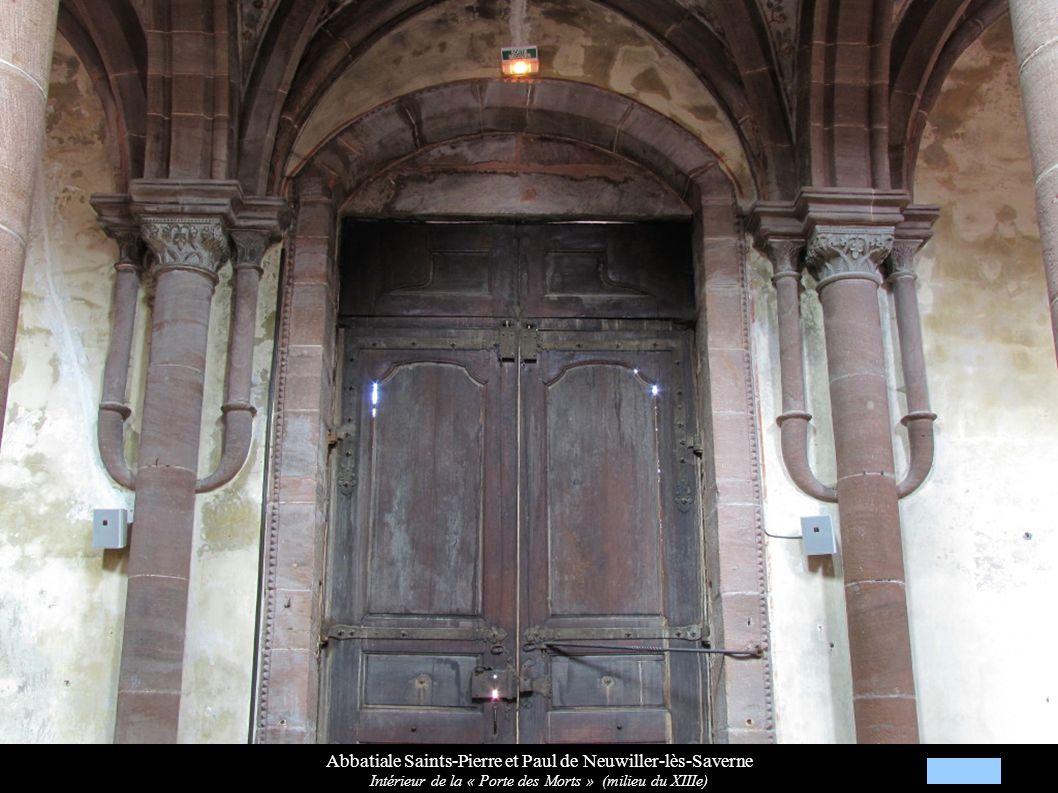 Abbatiale Saints-Pierre et Paul de Neuwiller-lès-Saverne Voûtes et clés de voûtes gothiques décorées