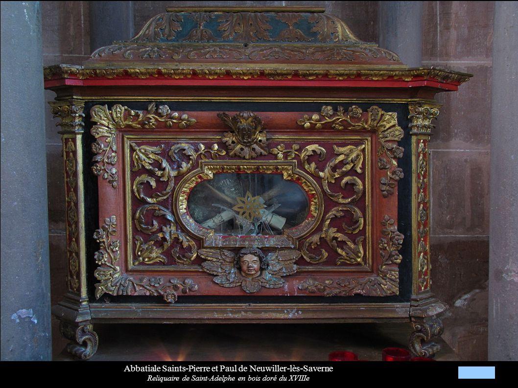 Abbatiale Saints-Pierre et Paul de Neuwiller-lès-Saverne Reliquaire de Saint-Adelphe en bois doré du XVIIIe