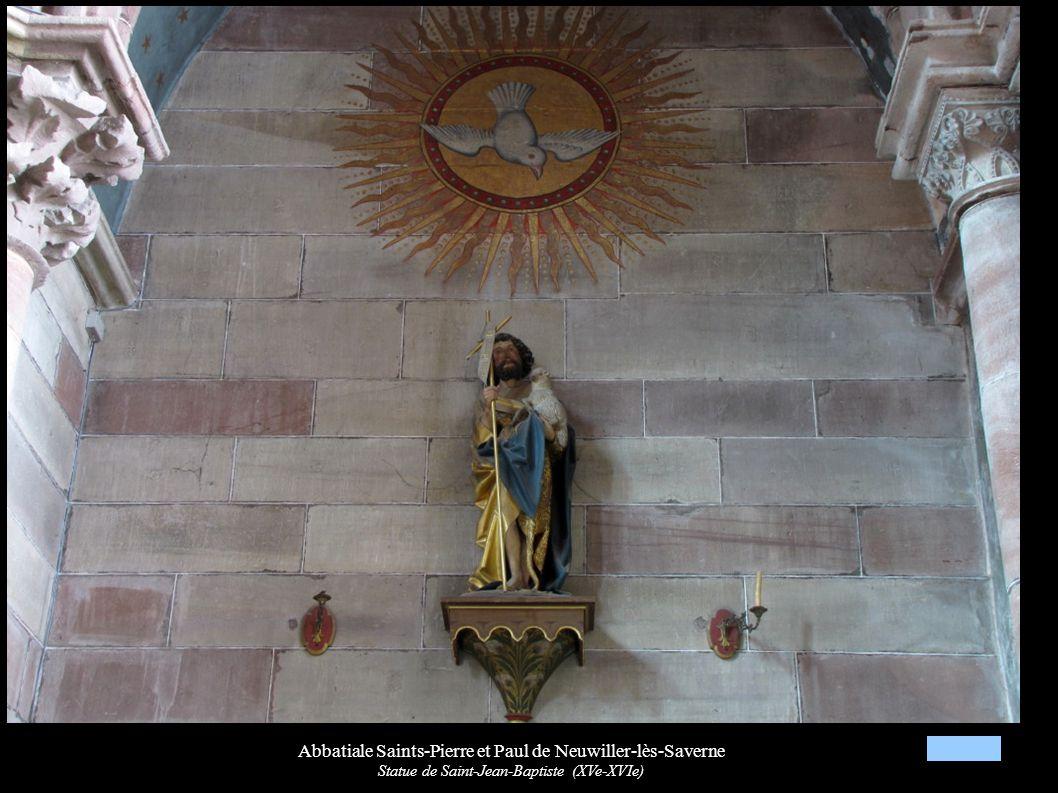 Abbatiale Saints-Pierre et Paul de Neuwiller-lès-Saverne Statue de Saint-Jean-Baptiste (XVe-XVIe)