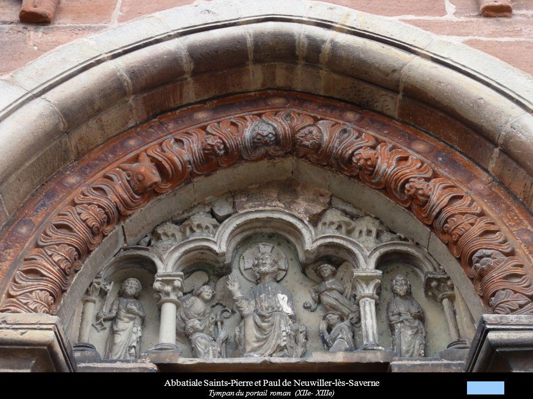 Abbatiale Saints-Pierre et Paul de Neuwiller-lès-Saverne Tympan du portail roman (XIIe- XIIIe)