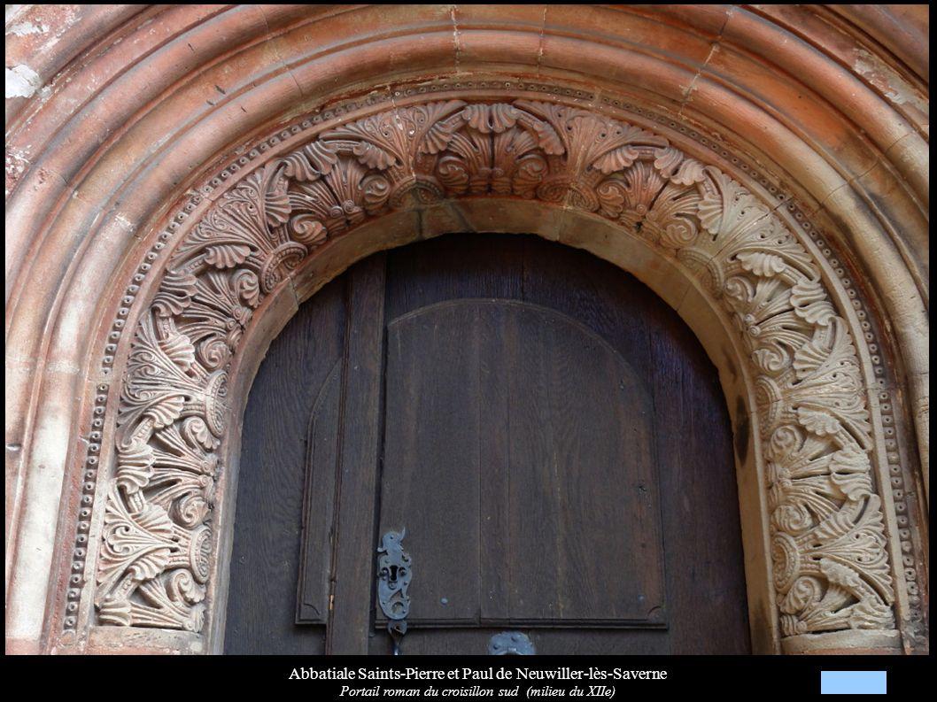 Abbatiale Saints-Pierre et Paul de Neuwiller-lès-Saverne Portail roman du croisillon sud (milieu du XIIe)