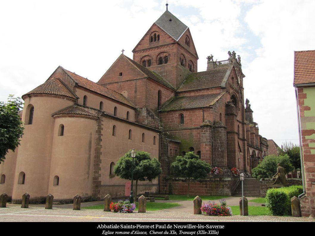 Abbatiale Saints-Pierre et Paul de Neuwiller-lès-Saverne Eglise romane d'Alsace, Chevet du XIe, Transept (XIIe-XIIIe)
