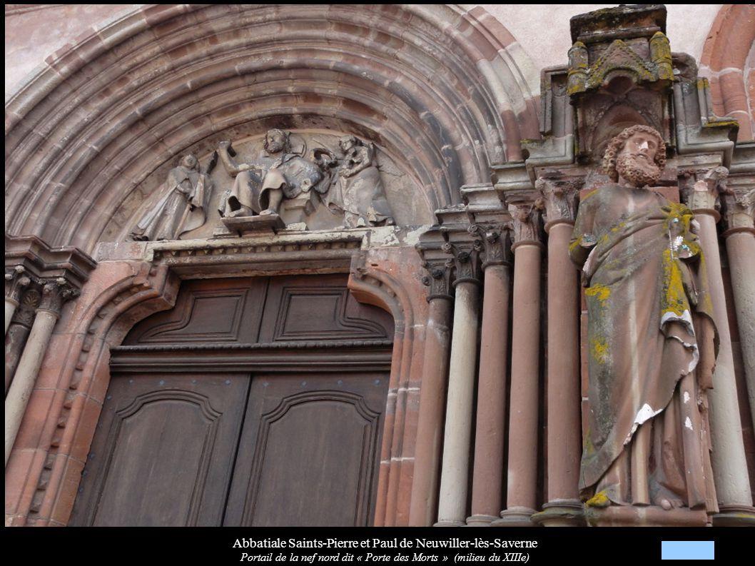 Abbatiale Saints-Pierre et Paul de Neuwiller-lès-Saverne Portail de la nef nord dit « Porte des Morts » (milieu du XIIIe)