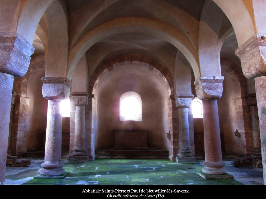 Abbatiale Saints-Pierre et Paul de Neuwiller-lès-Saverne Chapelle inférieure du chevet (XIe)