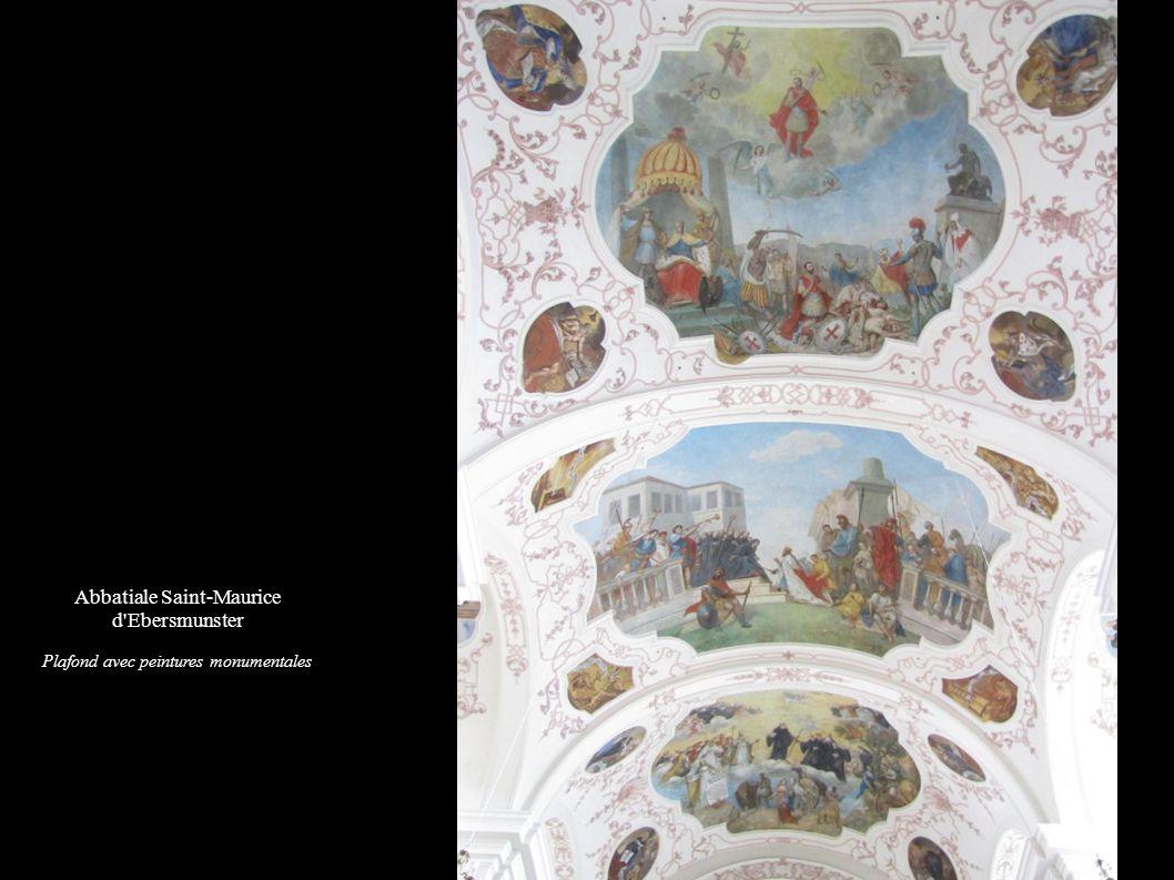 Abbatiale Saint-Maurice d'Ebersmunster Plafond avec peintures monumentales