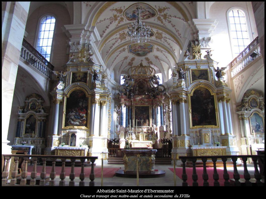Abbatiale Saint-Maurice d'Ebersmunster Chœur et transept avec maître-autel et autels secondaires du XVIIIe