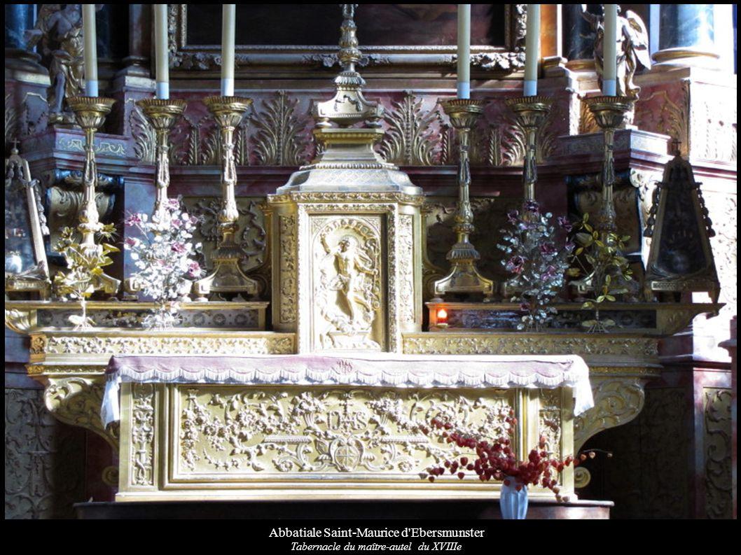 Abbatiale Saint-Maurice d'Ebersmunster Tabernacle du maître-autel du XVIIIe