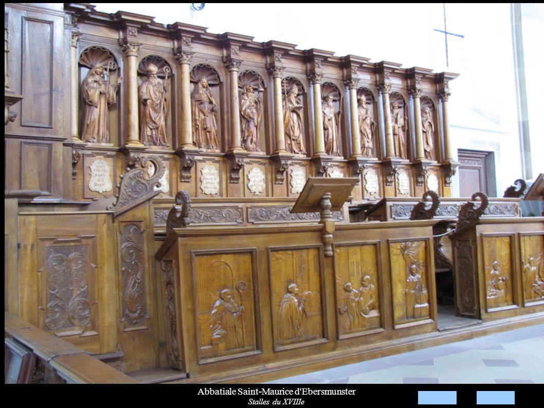 Abbatiale Saint-Maurice d'Ebersmunster Stalles du XVIIIe