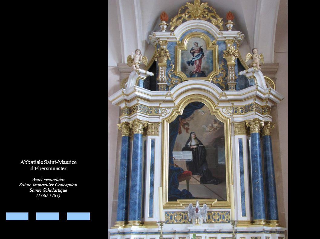 Abbatiale Saint-Maurice d'Ebersmunster Autel secondaire Sainte Immaculée Conception Sainte Scholastique (1730-1781)