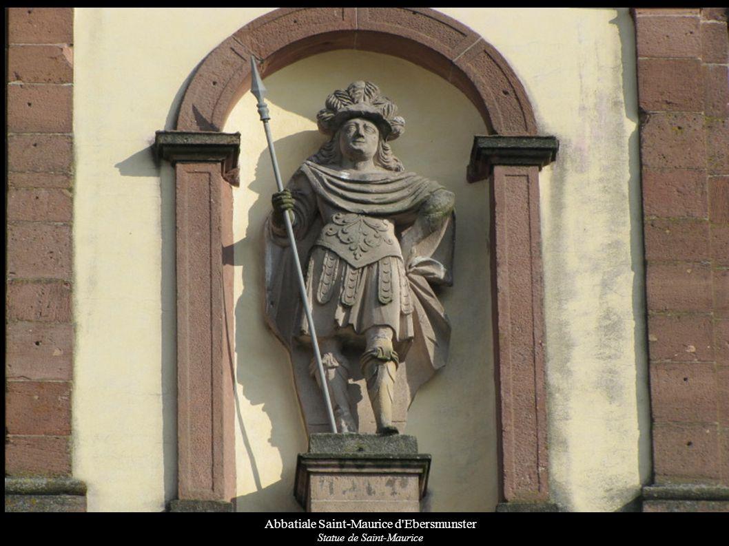 Abbatiale Saint-Maurice d Ebersmunster Couronnement du maître-autel