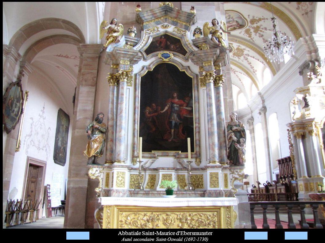 Abbatiale Saint-Maurice d'Ebersmunster Autel secondaire Saint-Oswald (1692-1730)