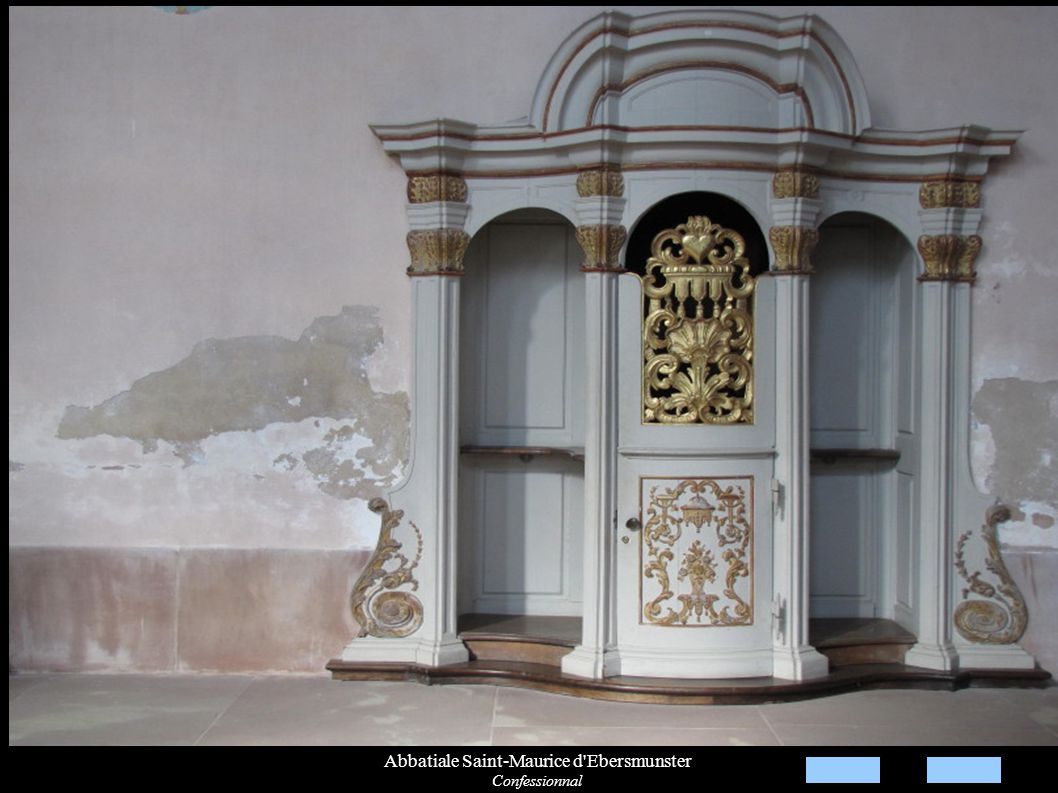 Abbatiale Saint-Maurice d'Ebersmunster Confessionnal