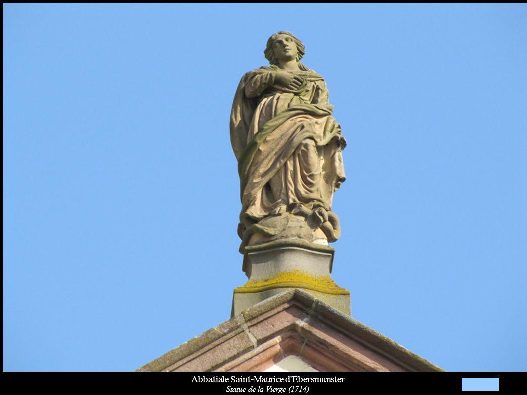 Abbatiale Saint-Maurice d Ebersmunster Saint-Jean-Baptiste sur les fonts baptismaux