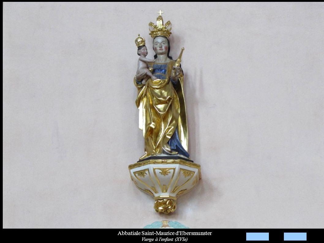 Abbatiale Saint-Maurice d'Ebersmunster Vierge à l'enfant (XVIe)