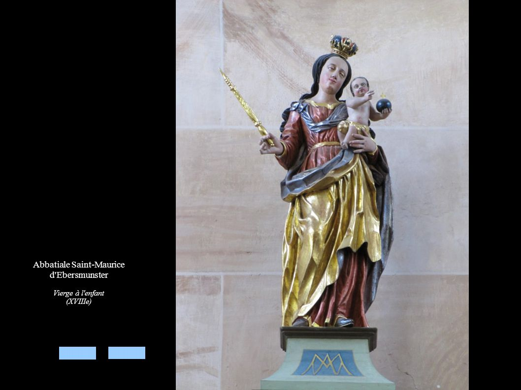Abbatiale Saint-Maurice d'Ebersmunster Vierge à l'enfant (XVIIIe)