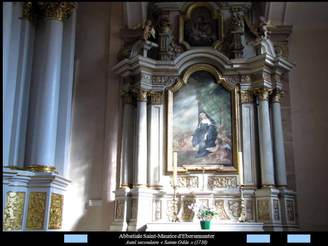 Abbatiale Saint-Maurice d'Ebersmunster Autel secondaire « Sainte-Odile » (1730)