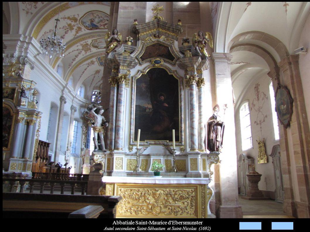 Abbatiale Saint-Maurice d'Ebersmunster Autel secondaire Saint-Sébastien et Saint-Nicolas (1692)