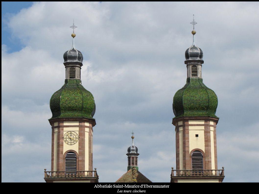 Abbatiale Saint-Maurice d Ebersmunster Façade sud avec la nef et le transept