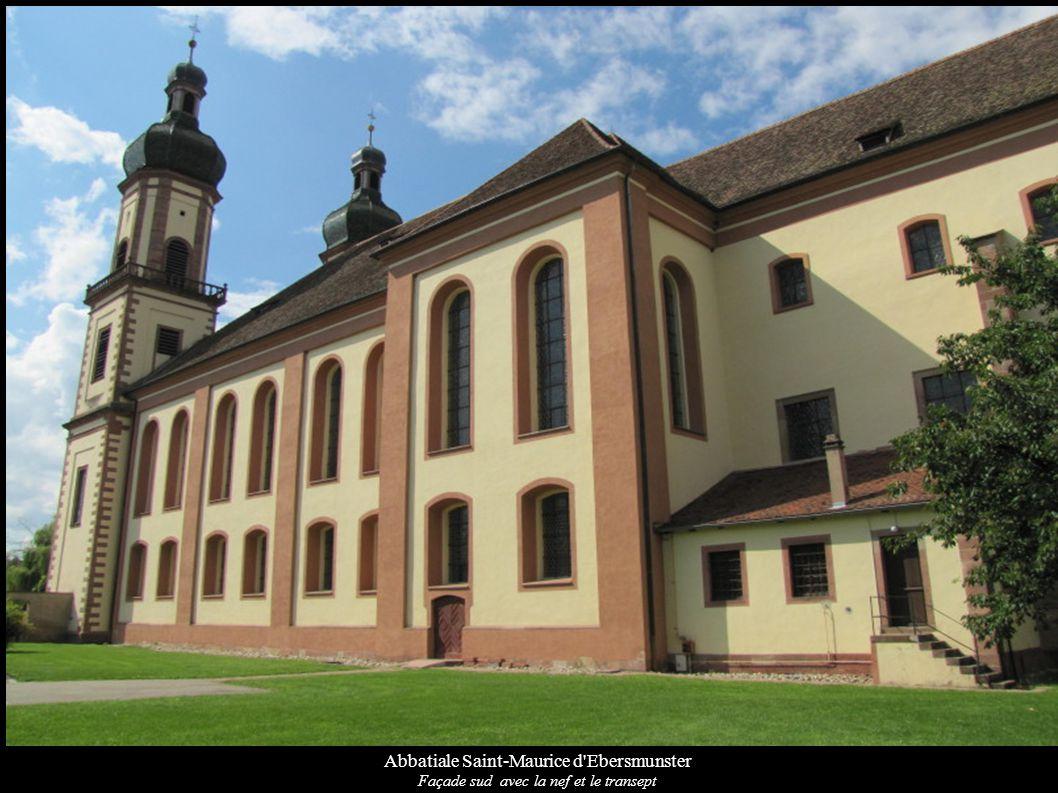 Abbatiale Saint-Maurice d'Ebersmunster Façade sud avec la nef et le transept