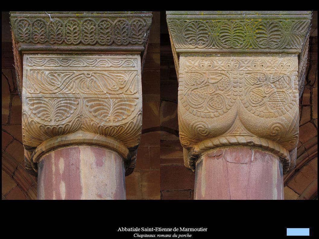 Abbatiale Saint-Etienne de Marmoutier Chapiteaux romans du porche