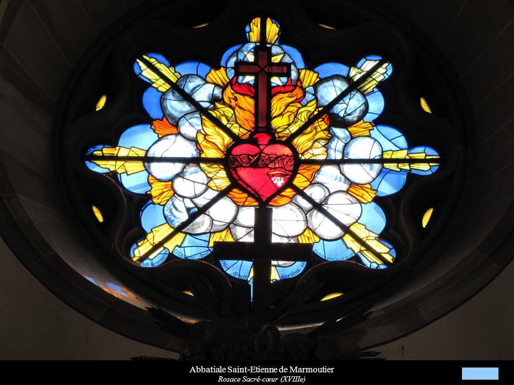 Abbatiale Saint-Etienne de Marmoutier Rosace Sacré-cœur (XVIIIe)