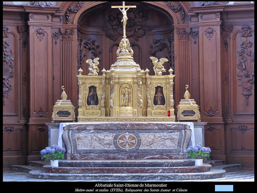 Abbatiale Saint-Etienne de Marmoutier Maître-autel et stalles (XVIIIe), Reliquaires des Saints-Auteur et Céleste