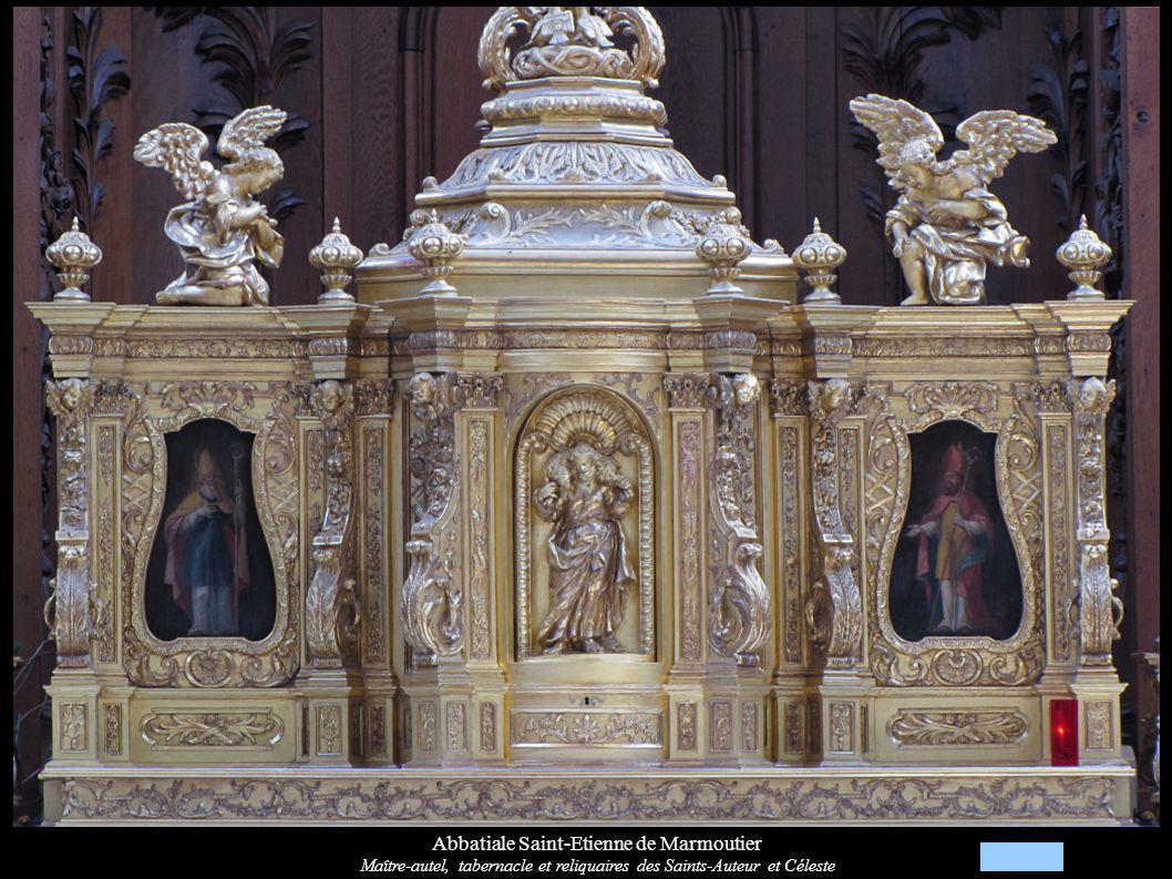 Abbatiale Saint-Etienne de Marmoutier Maître-autel, tabernacle et reliquaires des Saints-Auteur et Céleste