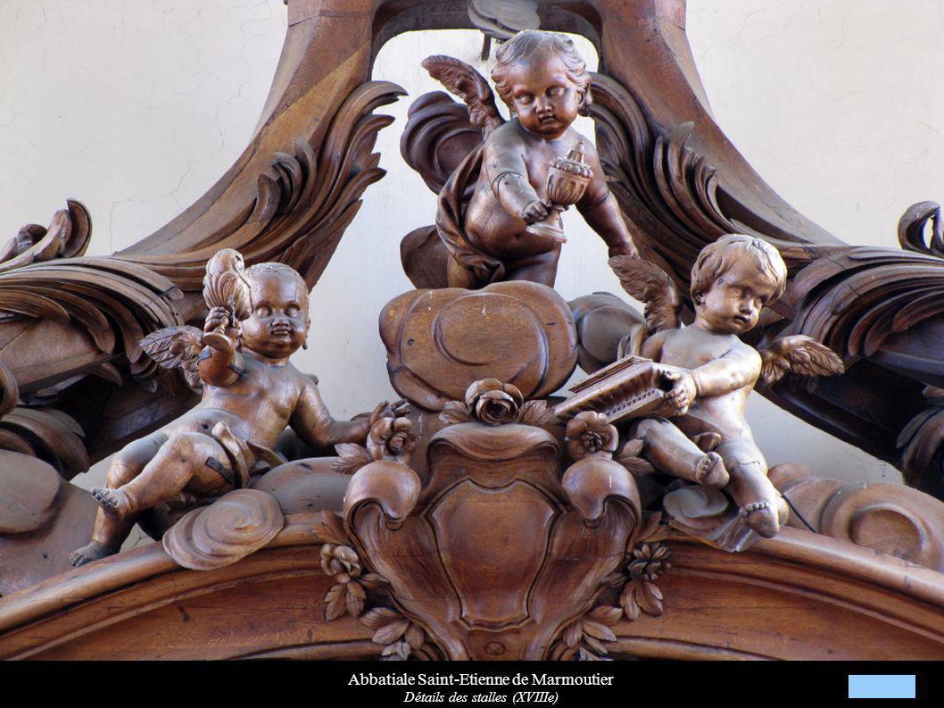 Abbatiale Saint-Etienne de Marmoutier Détails des stalles (XVIIIe)