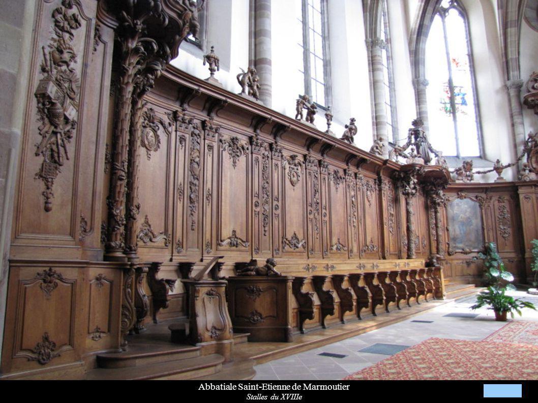 Abbatiale Saint-Etienne de Marmoutier Stalles du XVIIIe