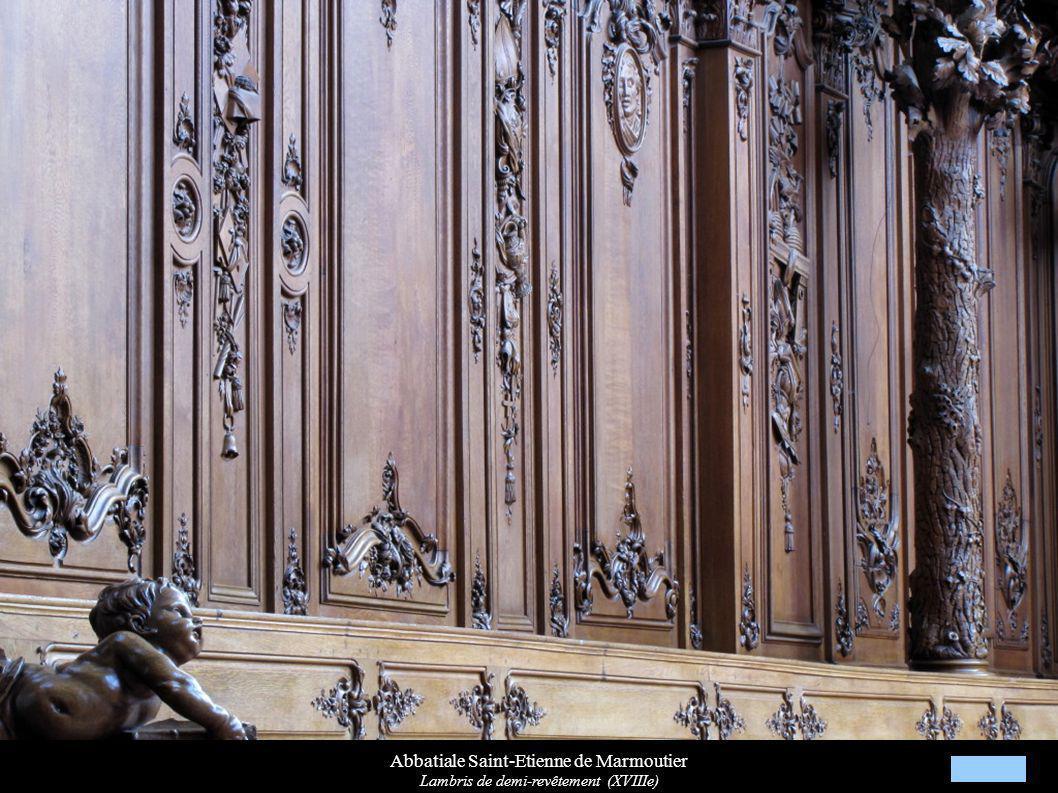 Abbatiale Saint-Etienne de Marmoutier Lambris de demi-revêtement (XVIIIe)