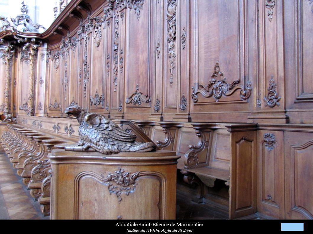 Abbatiale Saint-Etienne de Marmoutier Stalles du XVIIIe, Aigle de St-Jean