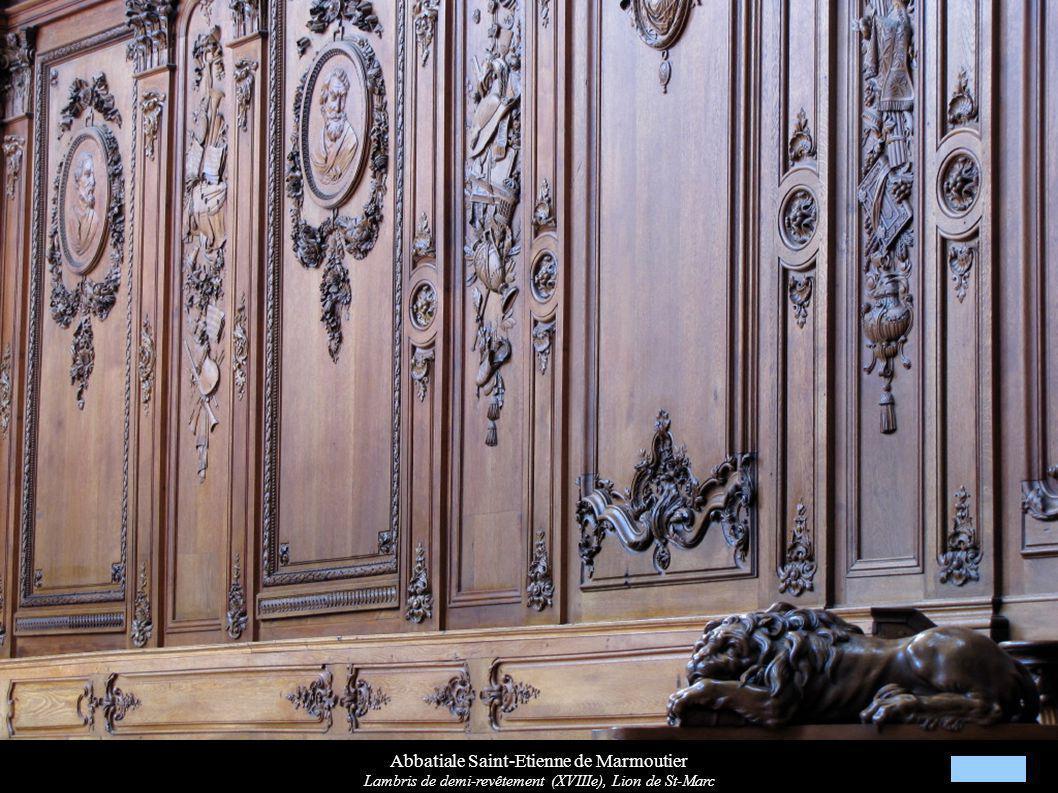 Abbatiale Saint-Etienne de Marmoutier Lambris de demi-revêtement (XVIIIe), Lion de St-Marc